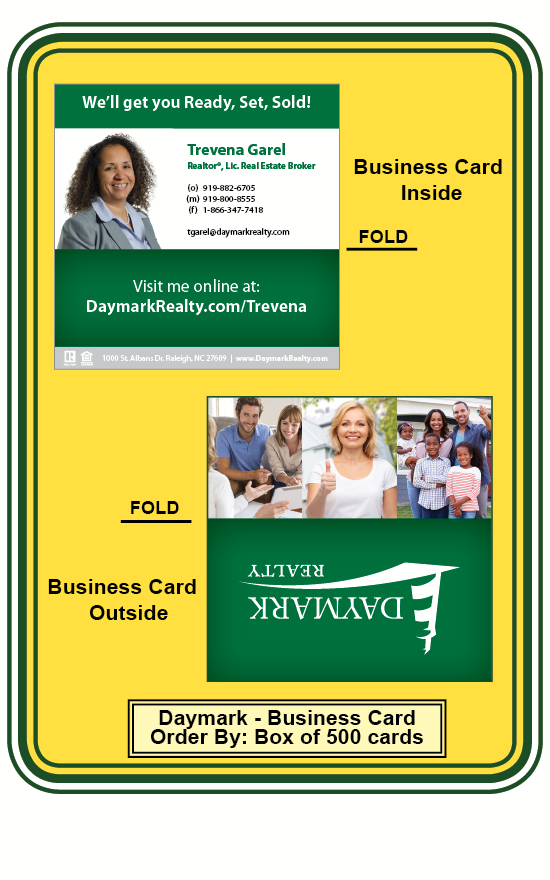 Business card daymark trevena garel border by box of 500 cards hover over image to enlarge reheart Choice Image
